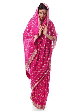 young woman in sari dress Stock Photo - 9513710