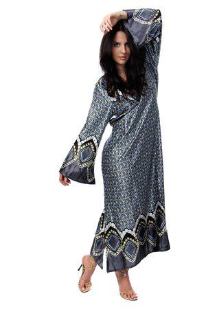 young woman in sari dress Stock Photo - 9510056