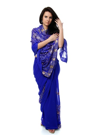 sari: young woman in sari dress