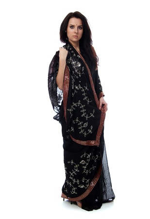 young woman in sari dress photo