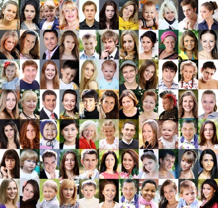 Portrait of beautiful young people photo