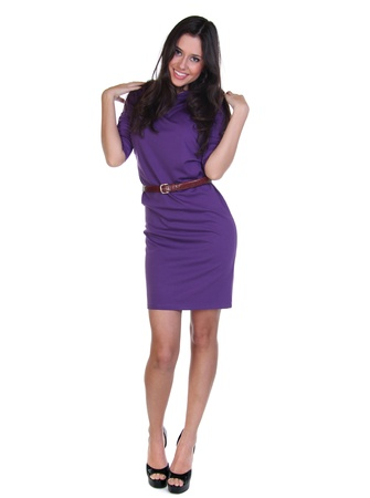 Full length of a beautiful young lady in dress Stock Photo - 12110942