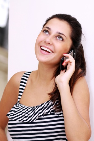 woman talking on the telephone  photo