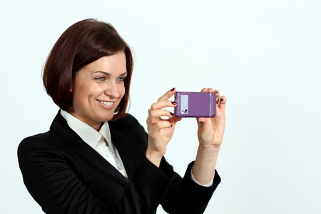 young beautiful woman calling by phone Stock Photo - 14261878