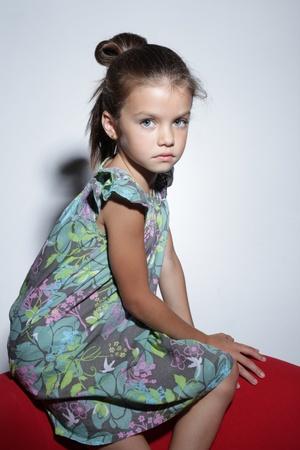 fashion beautiful little girl