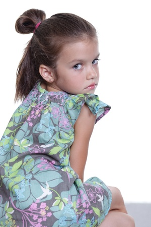 Closeup portrait of pretty little girl