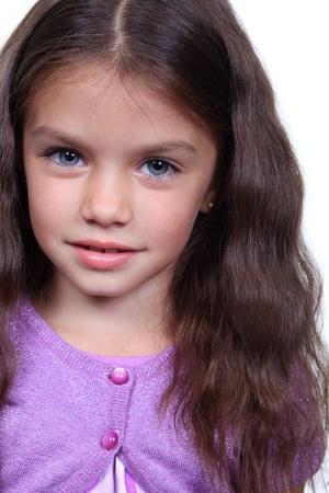 pretty little girl: Closeup portrait of pretty little girl
