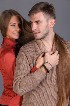 fashion couple in love photo
