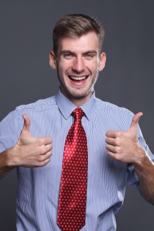 Portrait of young business man  photo