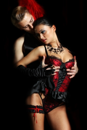 couple dancer moulin rouge Stock Photo - 16110610