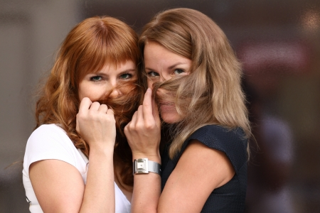 two young women   photo