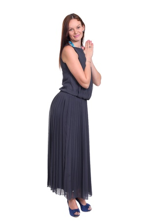 Full length of a beautiful young lady in dress Stock Photo - 16716062