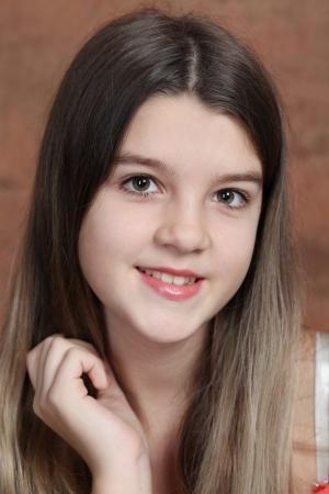 pretty girl: Closeup portrait of pretty little girl