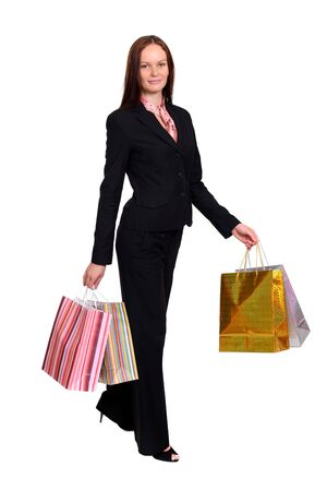 Beautiful woman with shopping bags Stock Photo - 17389279