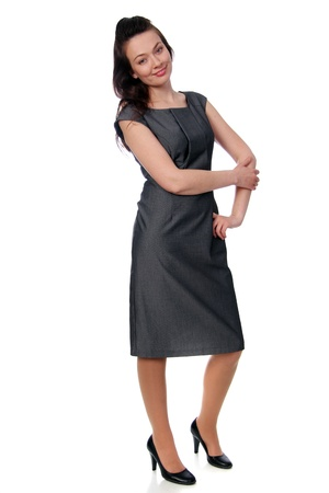 Full length of a beautiful young lady in dress Stock Photo - 17270958