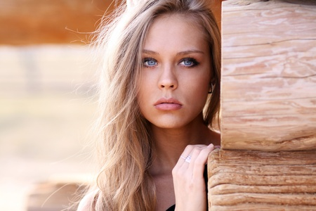 Beautiful young woman. Outdoor portrait  photo
