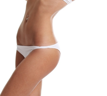 Perfect female body isolated on white background  photo