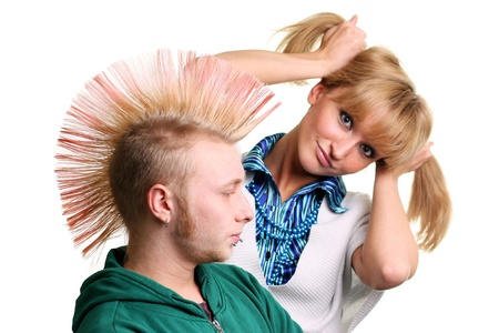 Punk and Blonde young woman Stock Photo - 18891502