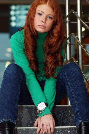 Young beautiful redhair woman Stock Photo - 17483528