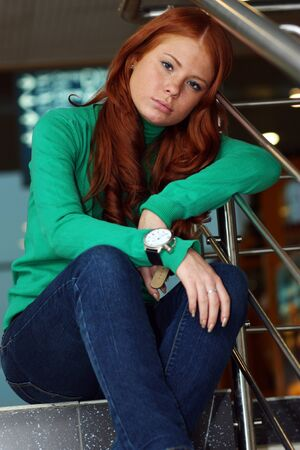 Young beautiful redhair woman Stock Photo - 17483482
