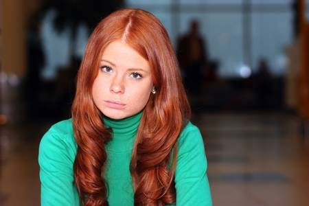 Young beautiful redhair woman Stock Photo - 17483502