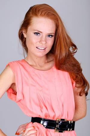 Young beautiful redhair woman Stock Photo - 17483421