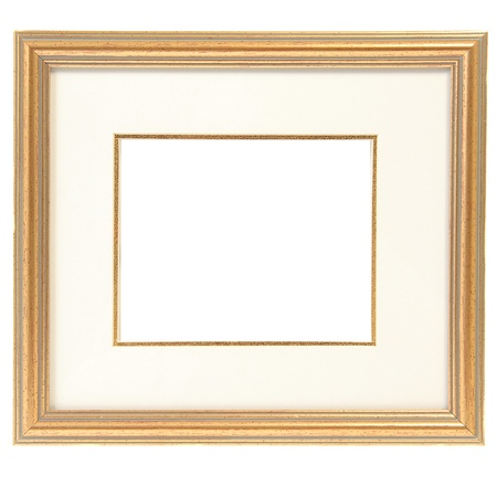 matted: Baget frame isolated on white  Stock Photo