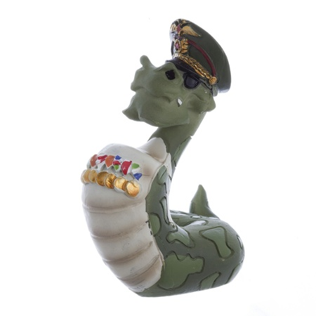 figurine toy snake isolated on white Stock Photo - 17645535