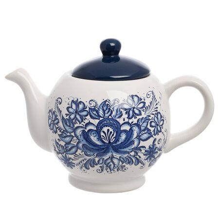 ceramic teapot, isolated on white background photo