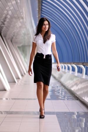 beautiful walking woman  photo