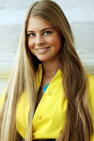 Beautiful long hair blonde woman  photo