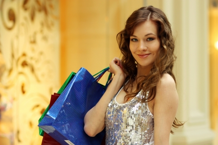 Beautiful woman with shopping bags