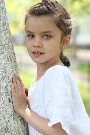 Portrait of beautiful little girl  photo