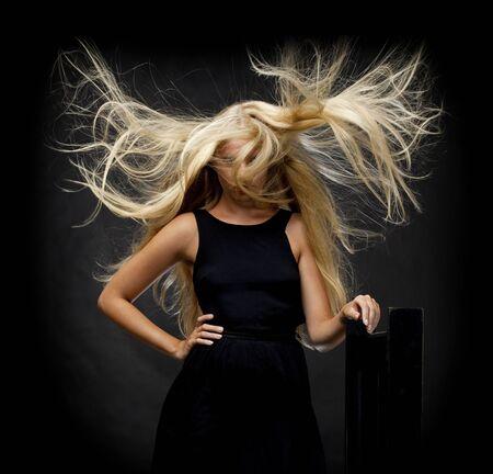 cabello rubio: Retrato de mujer hermosa Foto de archivo