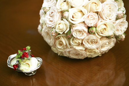 Wedding bouquet for the bride on her special day photo