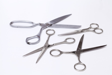 dressmaking: Dressmaking tailor scissors isolated over white background