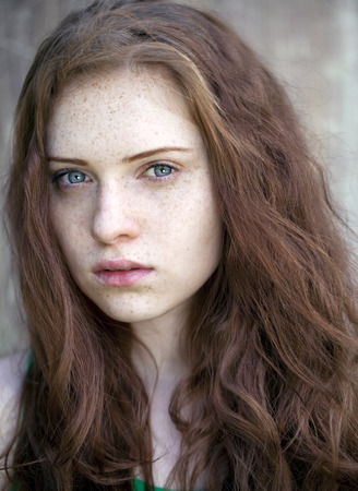 redhaired: Portrait of the beautiful red-haired girl