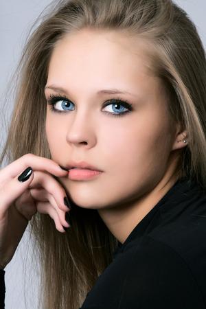 Portrait of beautiful woman in studio Stock Photo - 29892159
