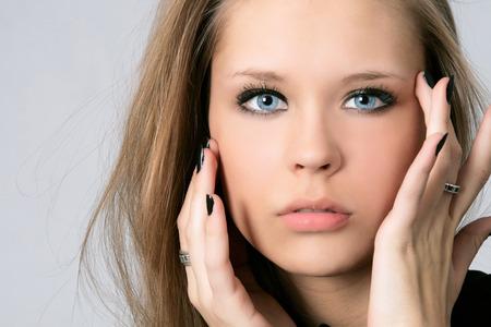 Portrait of beautiful woman in studio Stock Photo - 29892163