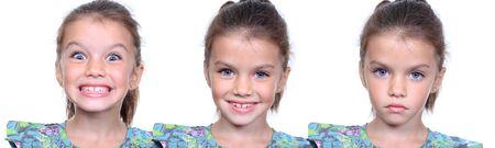 Closeup portrait of pretty little girls photo