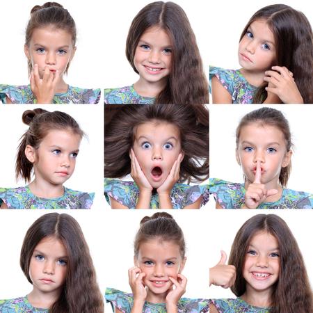 6 9 years: Closeup portrait of pretty little girls Stock Photo