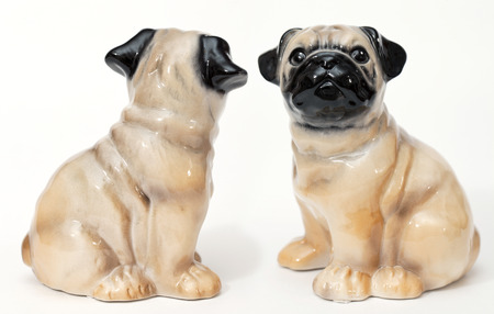 adeptness: French Bulldog. Ceramic figurine, dog breed isolated on white
