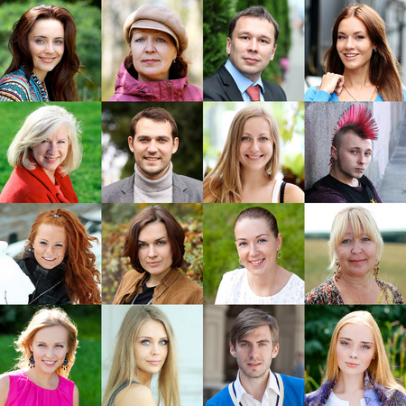 european people: Portraits of ordinary people over 18 years old Stock Photo