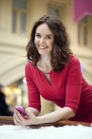 Portrait of beautiful woman indoor photo