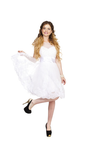 hochzeitsfrisur: Attraktive junge Braut mit sch�nen Hochzeit Frisur Lizenzfreie Bilder