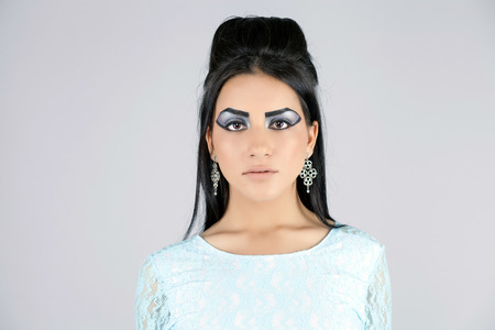 egyptian woman: Egyptian Queen Cleopatra - make up model in studio