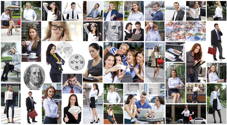 Collage business people photo