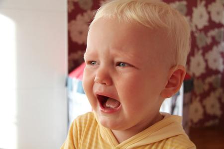 lamentation: Portrait of blonde baby boy in home