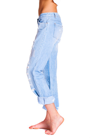 butt tight jeans: Close up, Cash money in jeans pocket of sexy woman butt Stock Photo