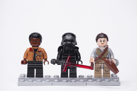 RUSSIA, May 16, 2018. Constructor Lego. Star Wars characters from episode 7 - awakening of power